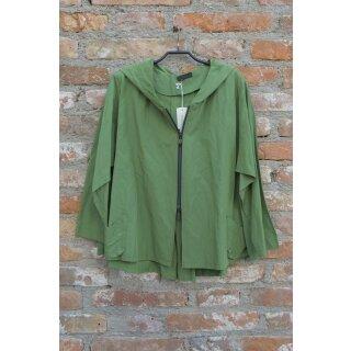 Hopsack Jacke mit Kapuze grün