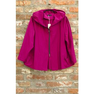 Hopsack Jacke mit Kapuze pink